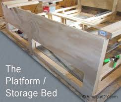 Building A Platform Bed Frame With Drawers by Queen Platform Bed Plans With Storage Fpudining
