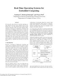 tutorial 2 real time operating systems for embedded computing