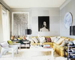 Yellow Sectional Sofa Designs Ideas Living Room With Yellow Sectional Sofa And White