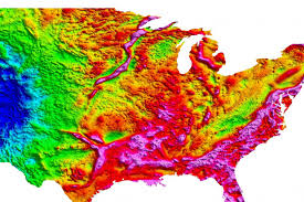 Map Of Nirth America by Gravity Map Of North America Image Eurekalert Science News