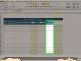 Auto Loan Spreadsheet by How To Amortize A Loan 15 Steps With Pictures Wikihow