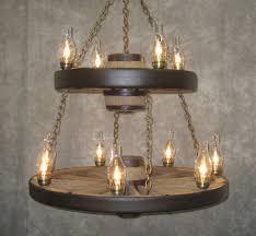 Mason Jar Wagon Wheel Chandelier Home Design Mason Jar Wagon Wheel Chandelier With Ceiling Fan
