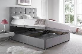 Grey Upholstered Ottoman Bed The Features Of The Cube Ottoman Bed Are Divan Style