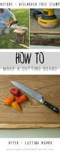 how to make kitchen knives how to make a cutting board out of a tree stump cuttings