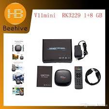 2018 android tv box rockchip rk3229 4k v11 mini satellite receiver