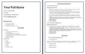 curriculum vitae format 2013 unforgettable receptionist resume exles to stand out resume