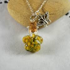 necklace with photo pendant images Green moss necklace pendant clear glass bottle with by galiga on jpg
