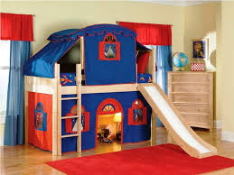 Princess Bunk Bed With Slide Fetching Pink Tent Slide Espresso Bedroom Beds And Low Loft