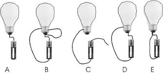 light bulbs and batteries solved you connect a light bulb to a battery assume a go