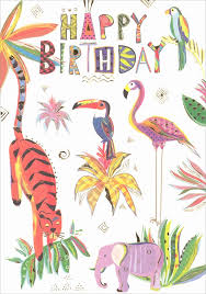 Jungle Birthday Card Turnowsky Jungle Birthday Card Mo7356