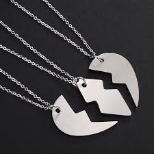 heart puzzle necklace images Matching best bitches necklace stainless steel broken heart puzzle jpg