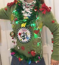 light up christmas sweater ebay