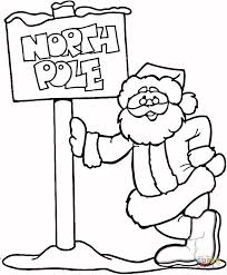 santa claus north pole coloring free printable