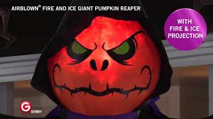 airblown halloween airblown fire u0026 ice giant pumpkin reaper youtube