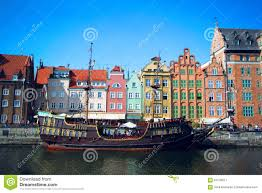 european houses old town of gdansk city poland colorful european houses and the