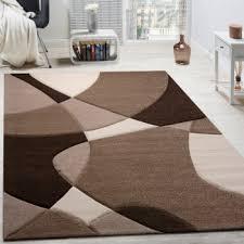 teppiche wohnzimmer designer teppich modern geometrische muster konturenschnitt in rot