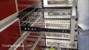 kitchen trolley designs by contractorbhai com youtube