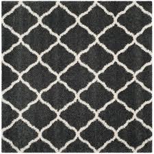safavieh hudson shag ivory gray 7 ft x 7 ft square area rug