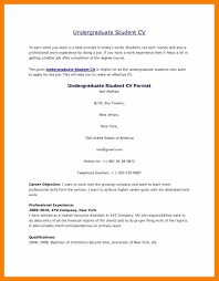 Resume Sample Undergraduate Student by 100 Cv Commerce Cv Traditionnel Conformiste Cv