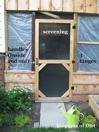 Screen Doors For Patio Make A Garden Screen Door Empress Of Dirt