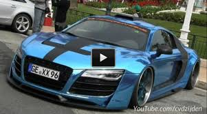 audi r8 slammed 650hp chrome audi r8 with wheels by forgiato gtr video in monaco