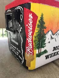Georgia Flag Chubbies Fraternity Cooler For Mountain Weekend Beta Theta Pi Budweiser