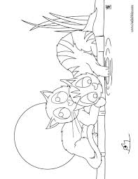 playing kittens coloring pages hellokids com