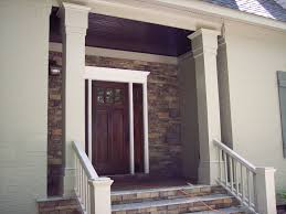 Beautiful Decoration Element Beautiful Flowers On Standing Vase Enhancing Fabulous Front Entry