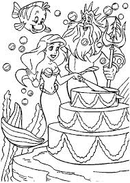 cheese flavoured birthday cake colouring page happy colouring