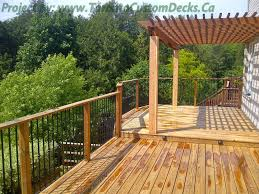 the pergola at the upper deck deck design custom deck patio