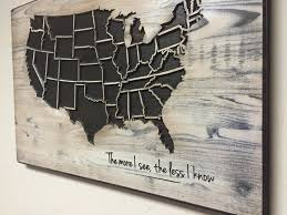World Map Wall Decor by Us Map Wall Art Rustic Wood Map Carved Wall Decor Us Map With
