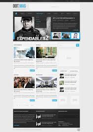 dot mag psd wordpress magazine template u2013 over millions vectors
