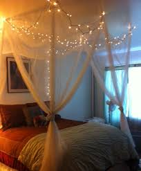 Bed Canopy With Lights How To Hang Lights In Bedroom By Homearena Bedrooms