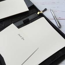 writing paper uk writing paper personalised writing paper wagtail designs writing paper gift set in a luxury leather writing case