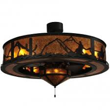 western ceiling fans with lights ceiling fans cabin place