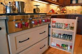 spice storage for cabinets drawer white flat pull out sliding