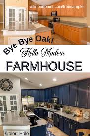 no prep kitchen cabinet paint bye bye oak hello modern farmhouse all in one paint how to