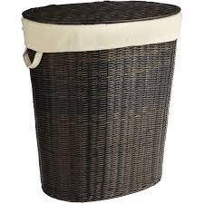 collin mocha wicker laundry hamper pier 1 imports