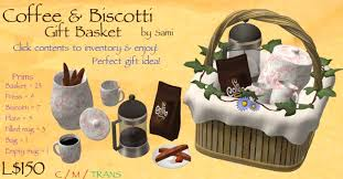 Coffee Gift Basket Second Life Marketplace Mother U0027s Day Gift Coffee U0026 Biscotti Gift