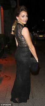 becky dress towie s wright and ferne mccann arrive at sugar hut for