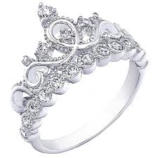 crown engagement rings images 925 sterling silver princess crown ring jewelry jpg