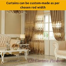 Curtain Width Per Curtain Coffee Latte Brown Mocha Design Fabric Drapes Sheer Eyelet Bedroom