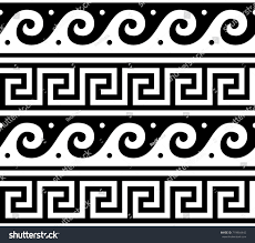 Greek Vase Design Ancient Vector Greek Seamless Pattern Traditional Stock Vector