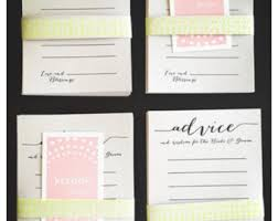 Wedding Wishes And Advice Cards Wedding Predictions Etsy