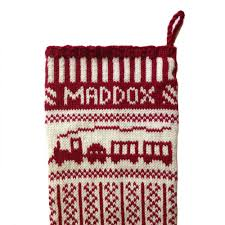 churchtown chapeau co u2014 reindeer christmas stocking two color