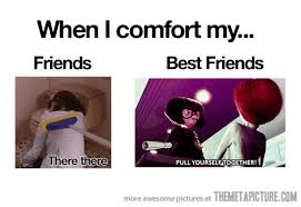 Best Friend Meme Funny - comforting my friends the meta picture