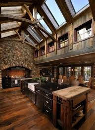 Rustic Homes Cozy Kitchen In A Converted Barn 800 X 1095 Converted Barn