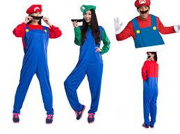 Mario Luigi Halloween Costume Funy Cosplay Costume Super Mario Luigi Brothers Plumber Fancy