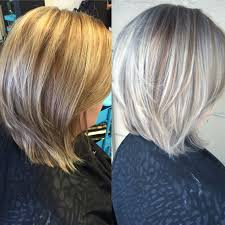 coloring gray hair with highlights hair highlights for before and after silver hair bobs pinterest silver hair