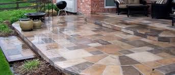 How Much To Concrete Backyard Interesting Decoration Concrete Patio Stones Exciting Plaza Pavers
